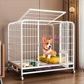 狗籠子中型小型犬室內帶廁所分離寵物柯基泰迪狗窩狗狗圍欄式【匯美優品】