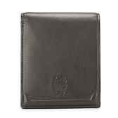 DAKS經典家徽壓紋軟皮革零錢袋雙層短夾(深咖啡色)230191-02