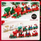 【摩達客】耶誕木質小火車(紅色款)-聖誕禮物擺飾兒童玩具