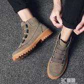 馬丁靴 韓版潮流中幫百搭工裝馬丁靴男士休閒雪地短靴子英倫風高筒皮鞋子 3C優購