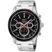 【[ 均一價$6180】SEIKO精工三眼賽車時代三眼計時腕錶-黑/43mm 7T11-0BA0R(SRW003P1)