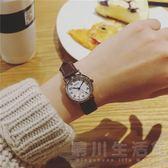 品牌防水女錶女學生韓版簡約潮流時尚復古皮帶小數字大氣休閒手錶 晴川生活館