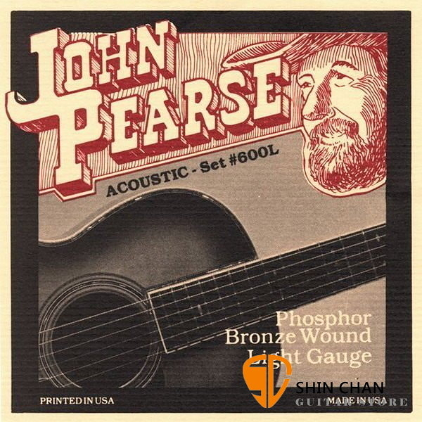 John Pearse 600L 磷青銅弦 Phosphor Bronze Light Strings (12-53)
