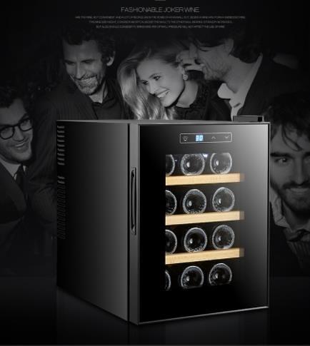 電子紅酒櫃 VNICE VN-12支電子紅酒櫃恒溫酒櫃雪茄櫃家用冰吧小型茶葉冷藏櫃 DF 維多原創