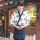 日式廚師服裝韓國日本料理壽司店工作服【男款白色上衣】