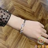 百搭滿鉆時髦手鏈女韓版簡約首飾手鐲女冷淡風氣質【奇妙商鋪】