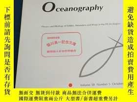 二手書博民逛書店Journal罕見of Oceanography physics and Biology of Eddies, M