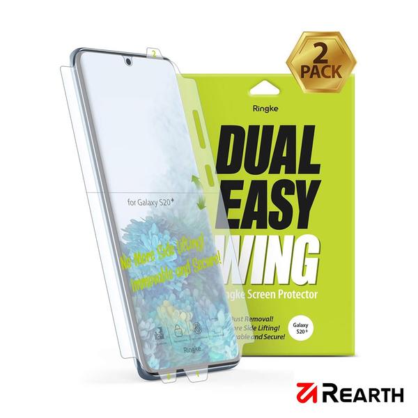 Rearth 三星 Galaxy S20+ 滿版抗衝擊螢幕保護貼(兩片裝)