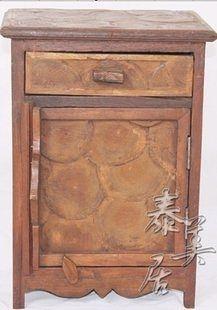 柚木家具木雕家具 門廳櫃 帶抽屜型儲物櫃