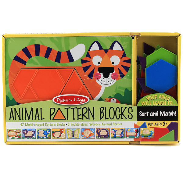 《 美國 Melissa & Doug 》 益智-動物造型拼板-10面拼板,47 pcs / JOYBUS歡樂寶貝
