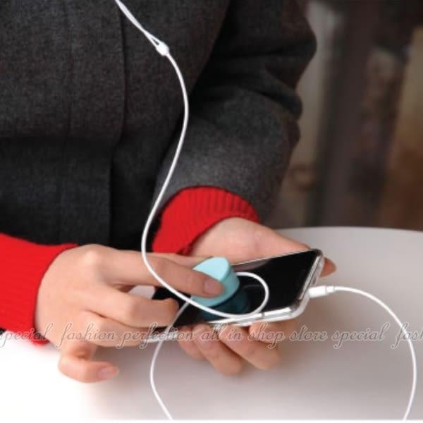 圓形糖果色二合一手機檫+耳機繞線器 MP3耳機集線器 捲線器 螢幕擦拭布【DE205】★EZGO商城★