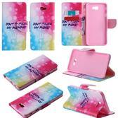 [24hr-現貨快出] 三星J5 J7 prime 插卡 支架 錢包款 卡通 彩繪 皮套 手機保護套