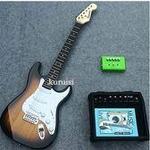 初學電吉他套裝/ST黃家駒款吉他套裝超多顏色/初級送琴架igo