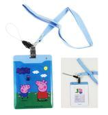 【卡漫城】 佩佩豬 吊帶證件套 藍色吊帶 ㊣版 悠遊卡套 卡片套 Peppa Pig 豬小妹 喬治 扣環 吊帶