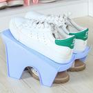 簡約雙層鞋架 鞋櫃 分層衣櫃 拖鞋 整理架 收納架 居家 立體 省空間 防滑【G053】米菈生活館