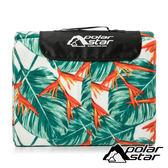 【PolarStar】高級植絨防潮睡墊 / 野餐墊 (300x300cm)『綠葉圖紋』P18703 露營 戶外 沙灘墊 郊遊 爬行墊