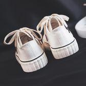 帆布鞋(休閒鞋) 街拍個性復古小白鞋女