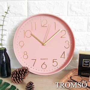 TROMSO紐約時代簡約靜音時鐘時代粉紅金