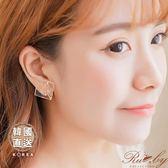 耳環 韓國直送乾燥壓花方塊造型夾式耳環-Ruby s 露比午茶