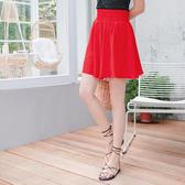 《CA1609》純色雪紡高腰縮腹波浪褲裙 OrangeBear