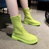 馬丁靴女英倫風新款百搭彈力瘦瘦靴網紅短靴子春秋單靴ins潮 伊衫風尚