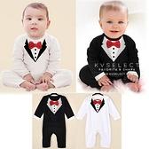 兒童嬰兒滿月拍照攝影婚禮花童紳士領結造型服裝 連身衣連身裝兔裝