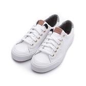 KEDS CREW KICK 蘇格蘭紋撞色皮革休閒鞋 白 9203W123108 女鞋