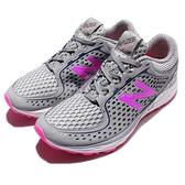【五折特賣】New Balance 慢跑鞋 WBREAHG D 灰 粉紅 白底 輕量透氣 運動鞋 女鞋【ACS】 WBREAHGD