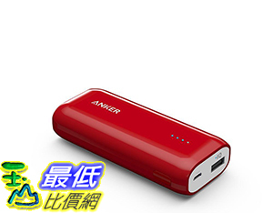 [106美國直購] Anker Astro E1 5200mAh Candy bar-Sized Ultra Compact Portable Charger Red 便攜式充電器