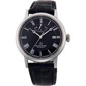 【台南 時代鐘錶 ORIENT】東方錶 RE-AU0003L 東方之星經典羅馬機械錶 皮帶 深藍/黑 39mm