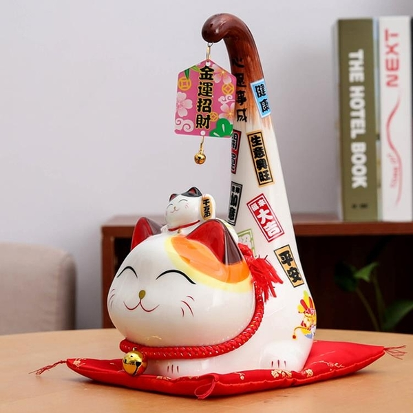 招財貓擺件家居客廳日式發財貓開業招財進寶擺件【聚寶屋】