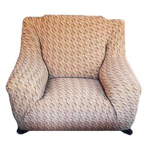 色織彈性二人沙發套170x100cm 咖啡色