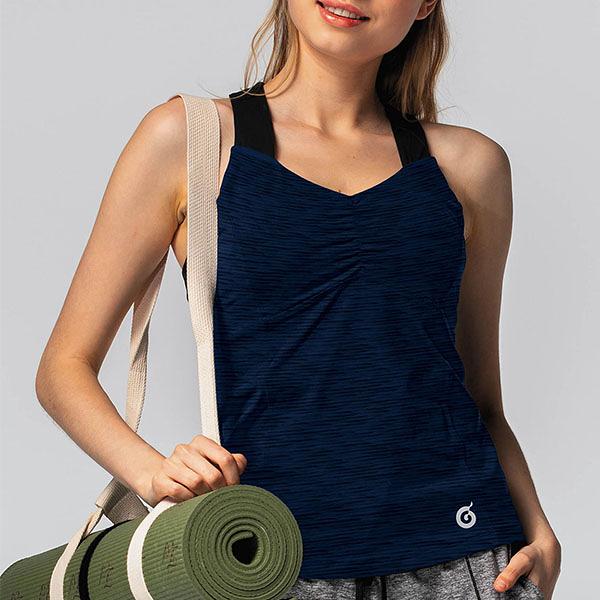 交叉美背合身二合一AN155(商品不含配件)-百貨專櫃品牌 TOUCH AERO 瑜珈服有氧服韻律服