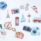 【BlueCat】一個人的旅行盒裝貼紙 手帳貼紙 (46枚入)