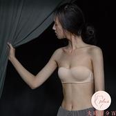 無肩帶內衣女抹胸顯小胸聚攏文胸罩薄款隱形裹胸防滑【大碼百分百】
