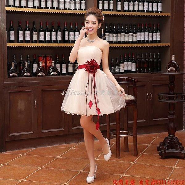 (45 Design)  訂做款式7天到貨   新款新娘旗袍伴娘短款婚紗禮服結婚敬酒服可愛公主短裙