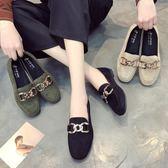 平底鞋子女新款春季一腳蹬懶人鞋韓版百搭單鞋社會女鞋豆豆鞋 蘑菇街小屋