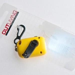 LED迷你手電筒-LED鑰匙圈-義大利outliving轉轉亮-手力發電免電池