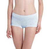 LADY 超彈力親膚無痕系列 中腰平口褲(藍色)