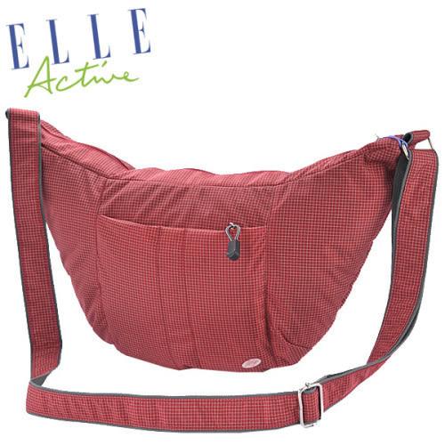 Backbager 背包族【ELLE Active】都會休閒彎月包/側背包/隨身包/斜背包/外出包 紅色