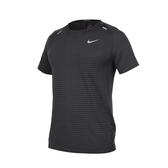 NIKE 男運動短袖T恤(免運 Dri-FIT 反光 慢跑 路跑 運動 上衣≡排汗專家≡