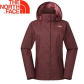 【The North Face 女款 DRYVENT防水外套《巴羅洛紅》】A2U8UD4Q/防水排濕/衝鋒衣★滿額送