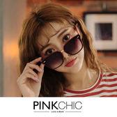 墨鏡 個性粗框太陽眼鏡/墨鏡/配件 附盒 - PINK CHIC - 351239