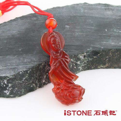 石頭記 護身佛如意觀音 紅玉髓項鍊