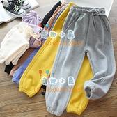 女童全棉彩色親子運動褲中小兒童休閒衛褲寶寶秋款長褲【奇趣小屋】
