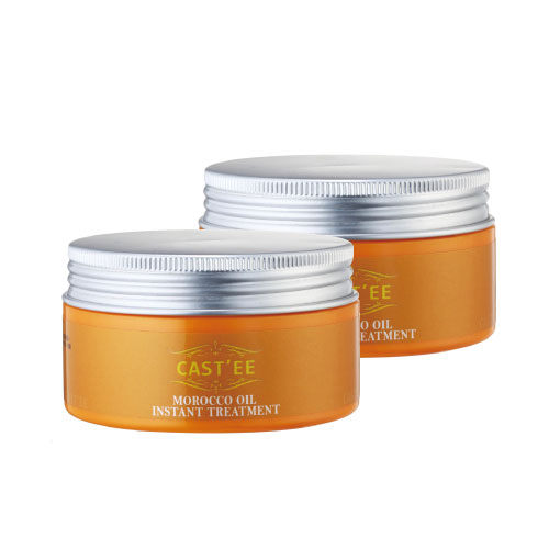買一送一空氣感髮型必備 免沖洗式 CASTEE摩洛哥油髮絲修護霜 小分子三重修護保濕提升86%
