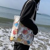 原宿日系文藝帆布包可愛百搭大容量單肩包 - 風尚3C