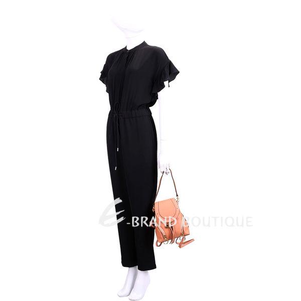 SEE BY CHLOE Olga 小型 雙拉鍊設計牛皮後背包(峽谷色) 1740493-39