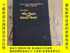 二手書博民逛書店Water罕見supply and pollution cont