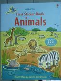 【書寶二手書T5/少年童書_PFD】First Sticker Book Animal_Cecilia Johansso